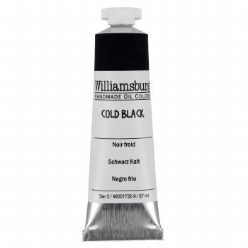 Williamsburg Oil Colors, 37ml, Cold Black