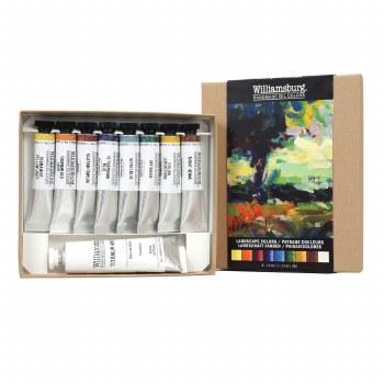 Williamsburg Handmade Oils 8-Color Introductory Sets, Landscape Colors Set