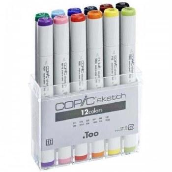 COPIC Sketch Marker Sets, 12-Color Basic Set