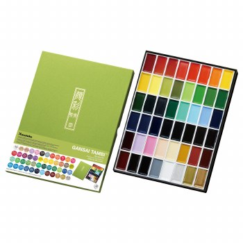 Gansai Tambi Watercolor Sets, 48-Color Set