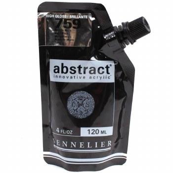 Abstract Acrylics, High Gloss, Mars Black - Pouch Bag