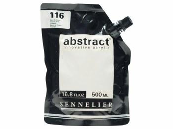 Abstract Acrylics, Satin, Titanium White 500ml - Pouch Bag