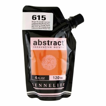 Abstract Acrylics, Satin, Cadmium Red Orange Hue - Pouch Bag