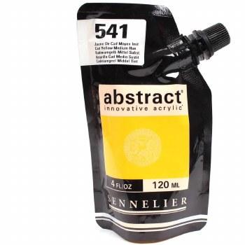 Abstract Acrylics, Satin, Cadmium Yellow Deep Hue - Pouch Bag