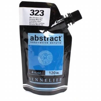 Abstract Acrylics, Satin, Cerulean Blue Hue - Pouch Bag