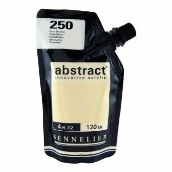 Abstract Acrylics, Satin, Flesh Ochre - Pouch Bag