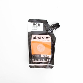 Abstract Acrylics, Fluorescent, Fluorescent Orange - Pouch Bag