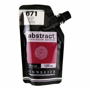 Abstract Acrylics, High Gloss, Deep Magenta - Pouch Bag