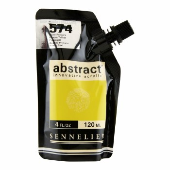 Abstract Acrylics, High Gloss, Primary Yellow - Pouch Bag