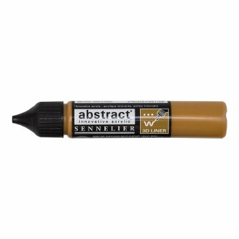 Abstract Liner, Yellow Ochre