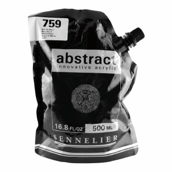 Abstract Acrylics, Satin, Mars Black 500ml - Pouch Bag