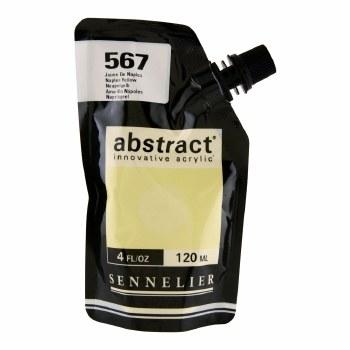 Abstract Acrylics, Satin, Naples Yellow - Pouch Bag