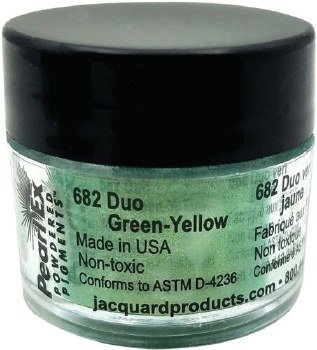 Pearl Ex Mica Pigments, 3g Jars, Duo Green/Yellow