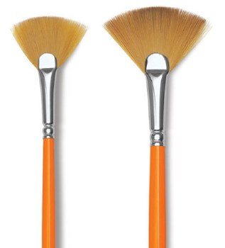 Golden Kaerell Long Handle Brushes, Fan2