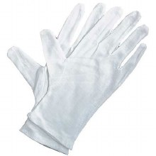Soft White Cotton Gloves, 4 Pack