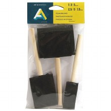 Foam Brush 3-Piece Set, 1, 2 & 3