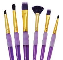 Royal Langnickel Big Kids Brush Purple Fan 6