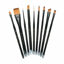 Majestic Long Handle Brushes, Brights, 0