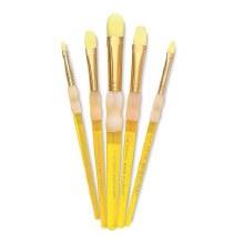 Royal Langnickel Big Kids Brush Yellow Filbert 1/2