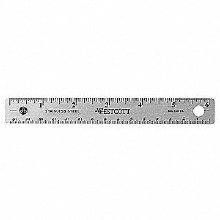 Steel Ruler, Cork-Back, 6""