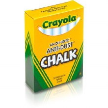 Chalk, Anti Dust White Chalk (12/Box)
