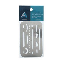 Erasing Shield, Stainless Steel 2-3/8 in. x 3-5/8 in.