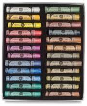 Sennelier Soft Pastel Sets, Iridescent, 24-Color Set
