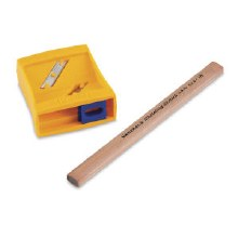 Flat Pencil Sharpener & Sketch Pencil, - Peggable