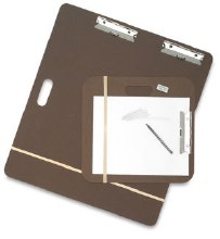 Masonite Drawing Board with Clips, 23x26