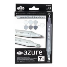 Azure Alcohol Markers Gray Set of 7