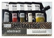 Abstract Metallic Acrylic Sets, Set of 5