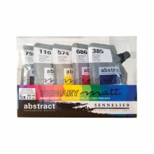 Abstract Matt Acrylic Sets, Set of 5