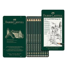 Castell 9000 Pencil Sets, 3-Pencil Blistercarded Set