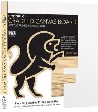 Fredrix Cradled Canvas Board, 8x8