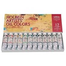 Holbein Artists Oil Color 12-Color 10ml Set, Tubes
