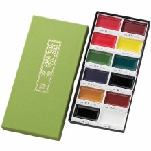 Gansai Tambi Watercolor Sets, 12-Color Set I