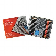 Sketching Collection Sets, 24-Piece Set - Tin Box