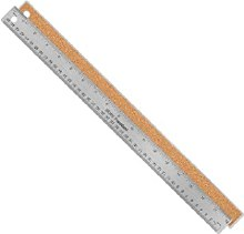 Flexible Stainless Steel Rulers, 18 in. - Cork Backed