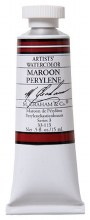 M. Graham Watercolor Maroon Perylene