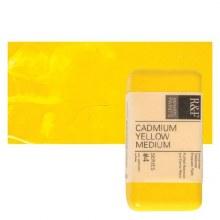 Encaustic Paint Cakes, 40ml Cakes, Cadmium Yellow Medium