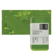 Encaustic Paint Cakes, 40ml Cakes, Cadmium Green