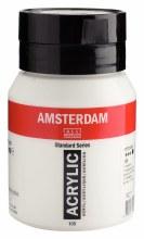 Amsterdam Acrylics, 500ml Jars, Titanium White