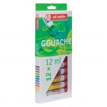 Art Creation Gouache Sets, 12 Color Set - 12ml Tubes