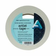 Artist Tape, White, 1/2 in. - 3 in. Core
