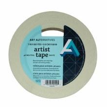 Artist Tape, White, 1 in. - 3 in. Core