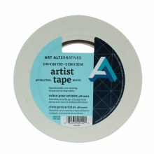 Artist Tape, White, 2 in. - 3 in. Core