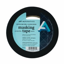 pH Neutral Black Masking Tape, 3/4 in. x 60 yds. Roll - 3 in. Core