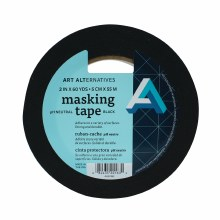 pH Neutral Black Masking Tape, 2 in. x 60 yds. Roll - 3 in. Core