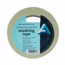 Masking Tape, 3/4 in. x 60 yds. Roll - 3 in. Core
