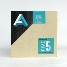 "Wood Panel Value Packs, 8"" x 8"" - Gallery Profile, 5/Pkg."